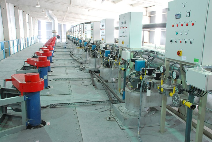 Burners of drying unit