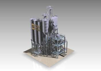 Dry Mortar Factory - 3D design view